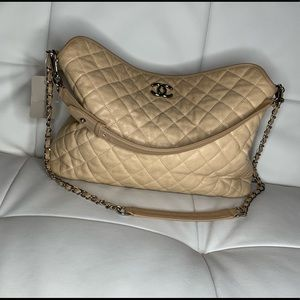 Chanel Beige Rivera Hobo handbag